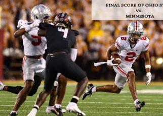Final score of Ohio State vs. Minnesota